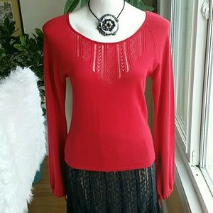 Sisley red sweater size small